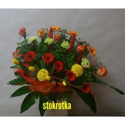 Kosz z kwiatami